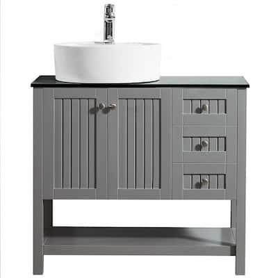 Vessel Bathroom Vanities With Tops Bathroom Vanities The Home Depot