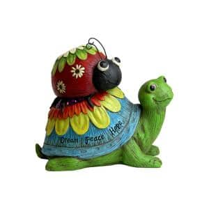 Garden Turtle and Lady Bug Statue