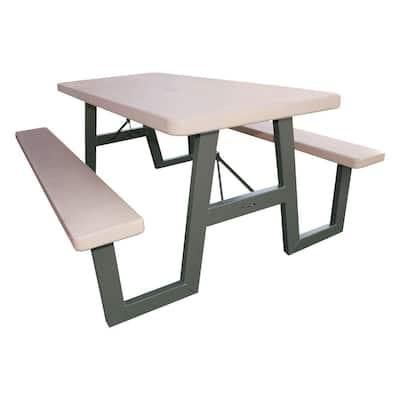 57 in. x 72 in. W-Frame Folding Picnic Table