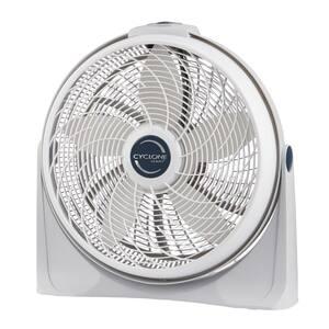 Cyclone Power Circulator 20 in. 3 Speed White Floor Fan with Adjustable Fan Head