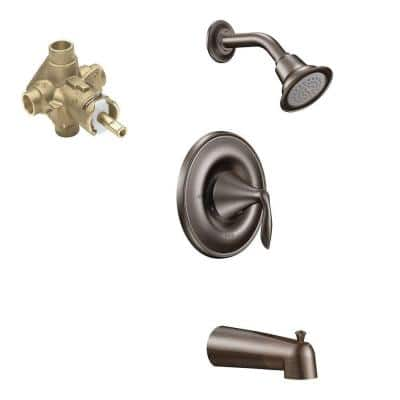Eva Single-Handle 1-Spray Tub and Shower Faucet in Oil Rubbed Bronze (Valve Included)