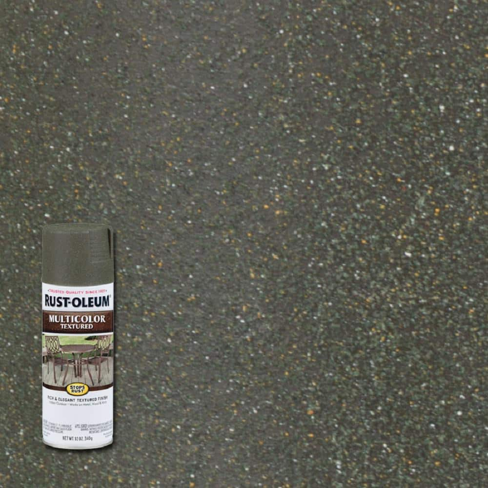 Rust-Oleum Stops Rust 12 oz. MultiColor Textured Deep Forest Protective Spray Paint (6-Pack)