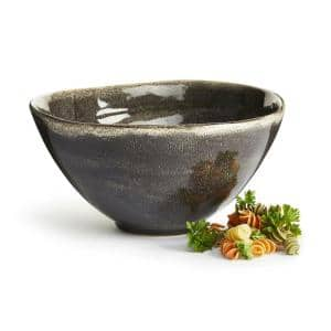 Grey Large Nature Serving Bowl