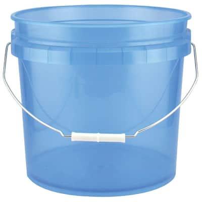 3.5-Gal. Blue Plastic Translucent Pail (Pack of 3)