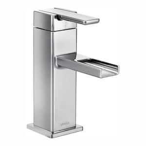 90 Degree Single Hole Single-Handle Mid-Arc Lavatory Faucet in Chrome