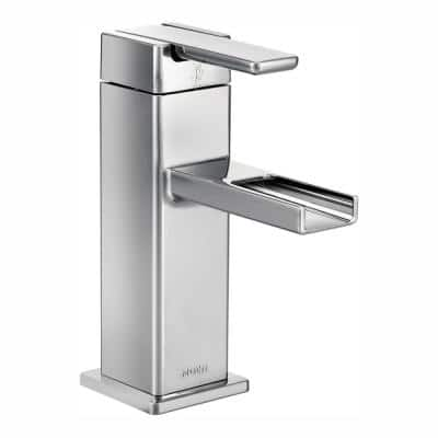 90 Degree Single Hole Single-Handle Mid-Arc Lavatory Faucet in Chrome