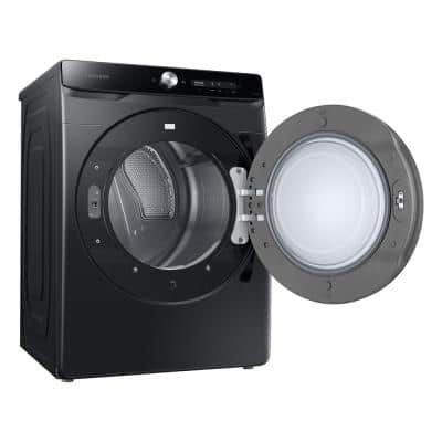 7.5 cu. ft. 240-Volt Brushed Black Electric Dryer with Smart Dial and Super Speed Dry, ENERGY STAR