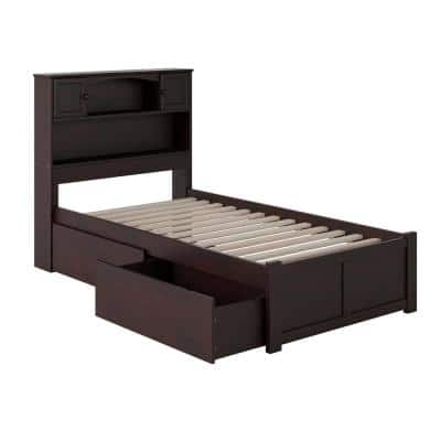 Atlantic Furniture Newport Espresso, How Long Is A Extra Twin Bed Frame