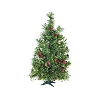 3 ft. x 22 in. Pre-Lit Dakota Red Pine Full Artificial Christmas Tree Clear Lights
