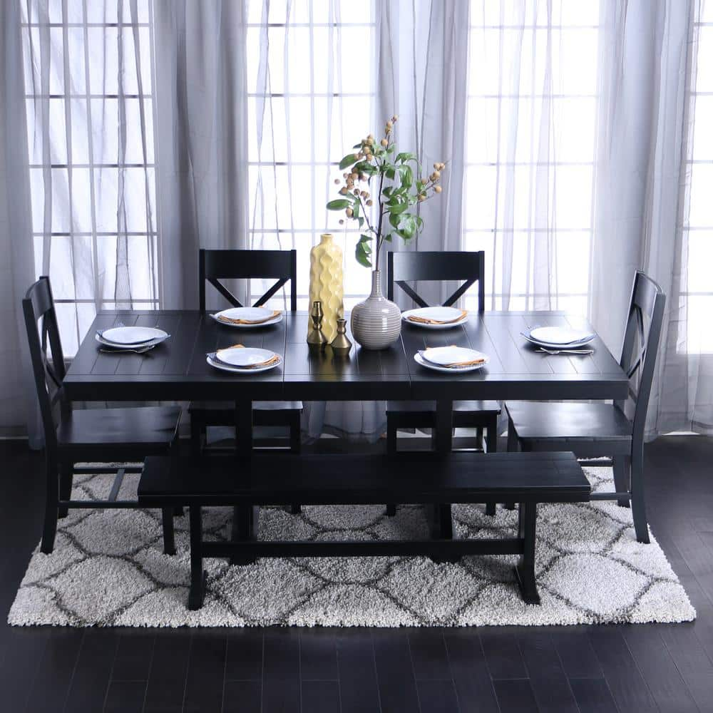 black wood kitchen table and chairs