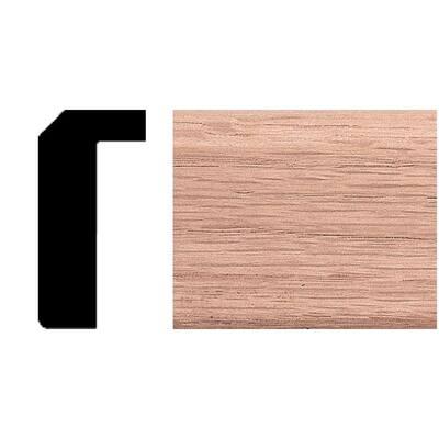 7/8 in. x 1-11/16 in. x 8 ft. Oak Counter Trim Moulding
