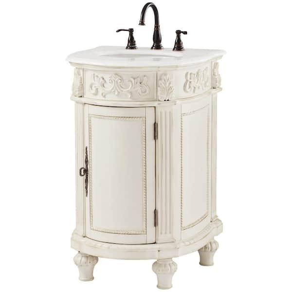 H Bathroom Vanity In Antique White, Antique White Bathroom Vanity Home Depot