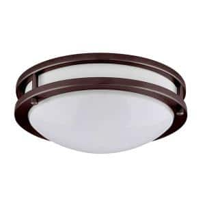 Nicor Dsk 8 In White Integrated Led Flush Mount Surface Mount Downlight 5000k Dsk82121205kwh The Home Depot
