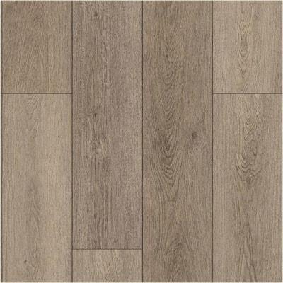 Take Home Sample -Bokeelia Taupe Oak Click-Lock Vinyl Plank Flooring - 5 in. x 7 in.