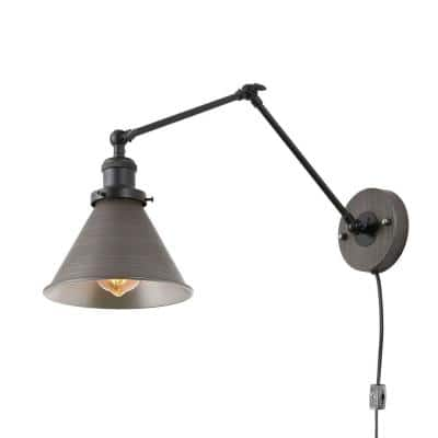 Nate 1-Light Antique Brushed Gray Wall Sconce