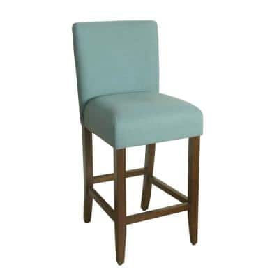 Upholstered 29 in. Aqua Textured Bar Stool