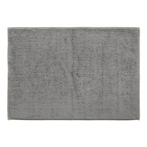 Grey 20 in. x 28 in. Cotton Bath Rug Turkish Reversible