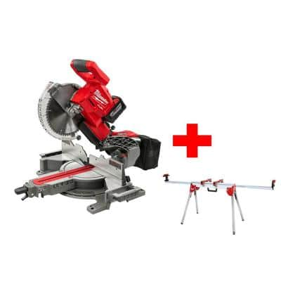 M18 FUEL 18-Volt Lithium-Ion Brushless Cordless 10 in. Dual Bevel Sliding Compound Miter Saw Kit W/ Miter Stand