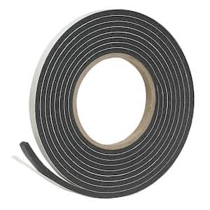 3/8 in. X 3/16 in. X 10 ft. Black High-Density Rubber Foam Weatherstrip Tape