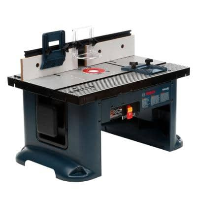 27 in. x 18 in. Aluminum Top Benchtop Router Table with 2-1/2 in. Vacuum Hose Port