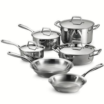 Gourmet Prima 10-Piece Stainless Steel Cookware Set