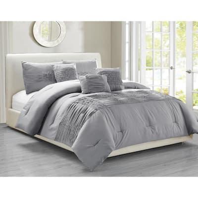Geonna 6-Piece Glacier-Grey Full/Queen Comforter Set