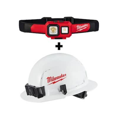 450 Lumens LED Spot/Flood Headlamp with Hardhat