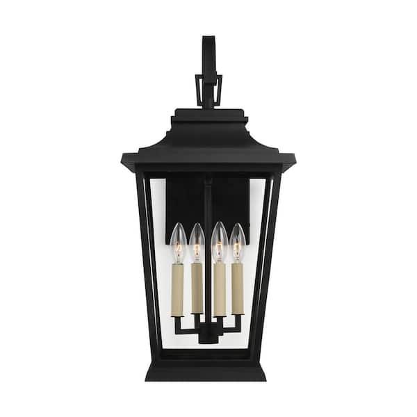 Feiss Warren 12 In Large 4 Light, Large Black Outdoor Wall Lighting