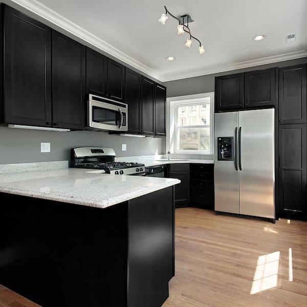 Nuvo 2 Qt Black Deco Cabinet Paint Kit, Painting Kitchen Cabinets Black