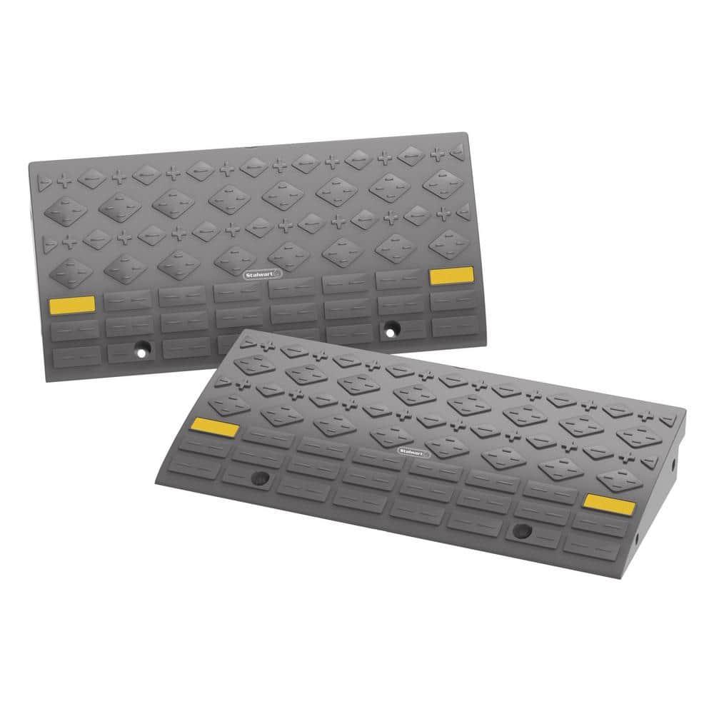 Stalwart 4-Ton Capacity Curb Ramps (Set of 2)