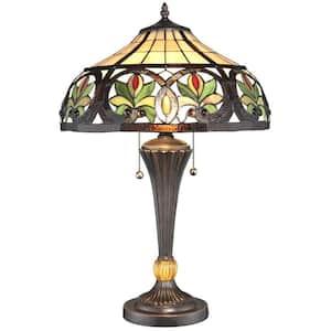 23 in. Tiffany Sunrise Bronze Table Lamp