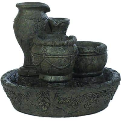 Graphite Old World Fountain with Pump
