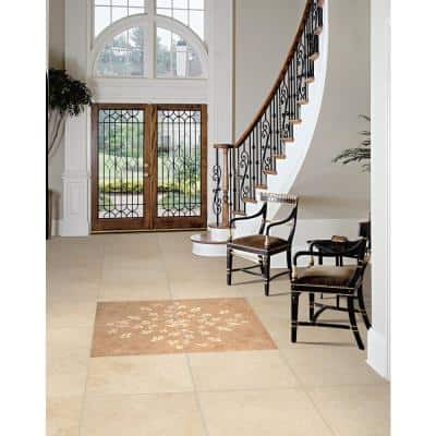 Castle 18 in. x 18 in. Honed Travertine Floor and Wall Tile (9 sq. ft./Case)