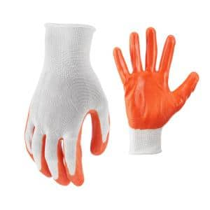Large Nitrile Coated Work Gloves (5 Pair)