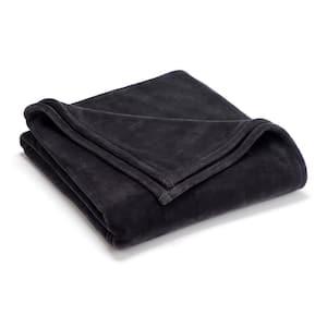 Sheared Mink Grey Polyester King Blanket