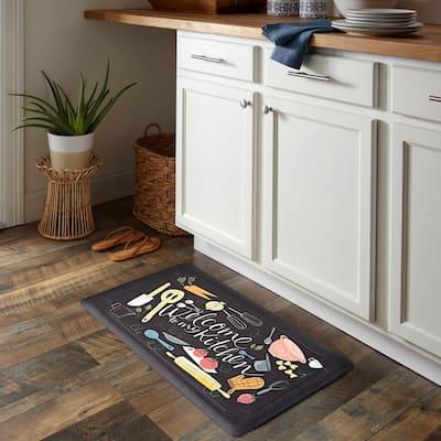 Scattered Kitchen 18 in. x 30 in. Kitchen Mat