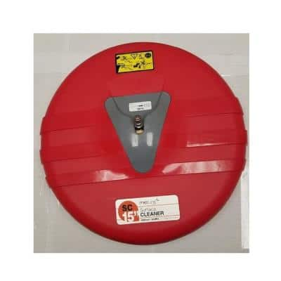 3200 Max Psi, 15 in. Dia Rotary Surface Cleaner for Pressure Washer in Red