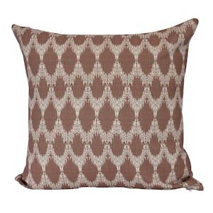 Peace Maroon Geometric 16 in. x 16 in. Throw Pillow