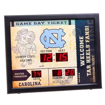 University of North Carolina NCAA Bluetooth Ticket Stub Wall Clock