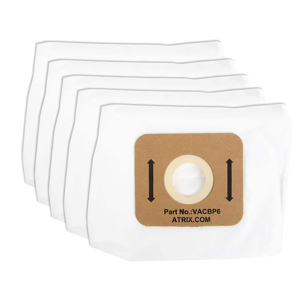 Atrix Hepa Filter Replacement Bags 5 Packages Vacbp6 5p The Home Depot