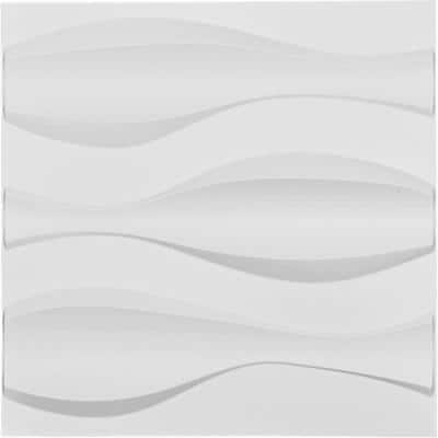 1 in. x 19-5/8 in. x 19-5/8 in. White PVC Thompson EnduraWall Decorative 3D Wall Panel