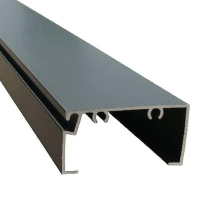 Screen Room 8 ft. x 1 in. x 2 in. Bronze Open Back Aluminum Extrusion