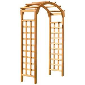 Natural Arch 84 in. x 48 in. Outside Wooden Garden Arbor