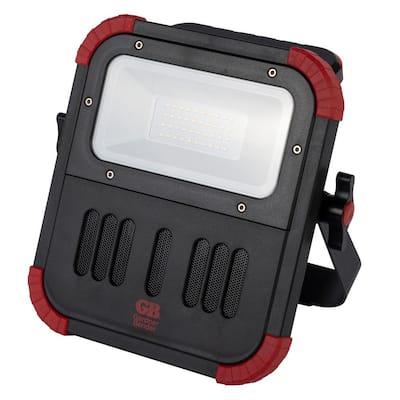 20-Watt LED Work Light with Bluetooth Speaker