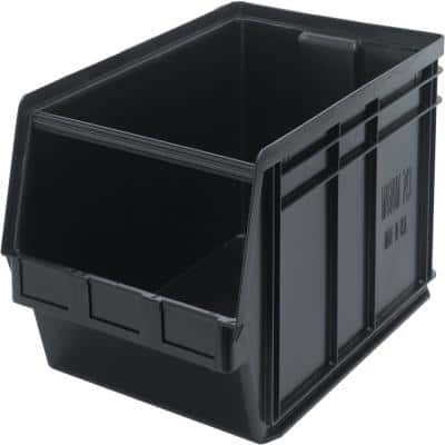 Magnum 27-Gal. Storage Tote in Black (1-Pack)
