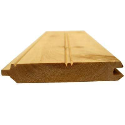 1 in. x 6 in. x 16 ft. E and CB/WP4 #2 and Better Pattern Pine Bright Board