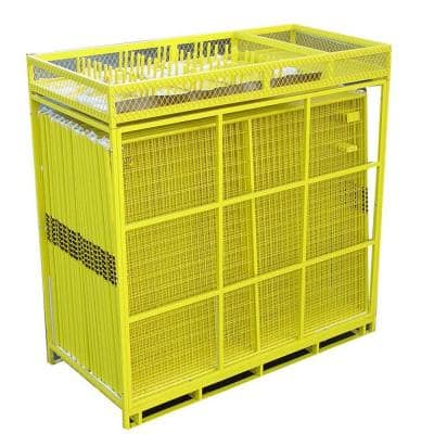 6 ft. x 210 ft. 28-Panel Yellow Powder-Coated Welded Wire Temporary Fencing
