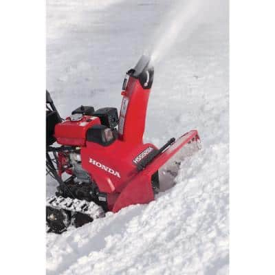 28 in. Hydrostatic Track Drive Two-Stage Gas Snow Blower with Electric Start and Joystick Chute Control