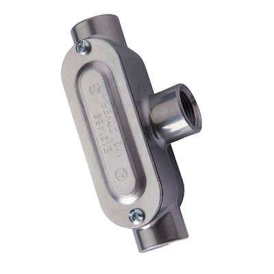 4 in. Aluminum Rigid Threaded Conduit Body with Cover