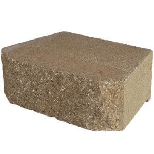 4 in. x 11.75 in. x 6.75 in. San Diego Tan Concrete Retaining Wall Block ( 144 Pieces/ 46.6 Sq. ft. / Pallet)